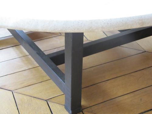table basse travertin. Black Bedroom Furniture Sets. Home Design Ideas