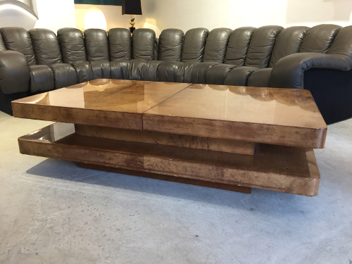 Aldo Tura table basse parchemin