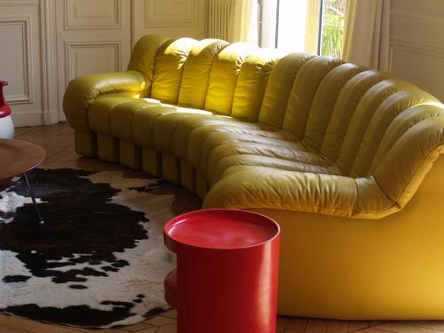 003 DS 600 de Sede cuir jaune