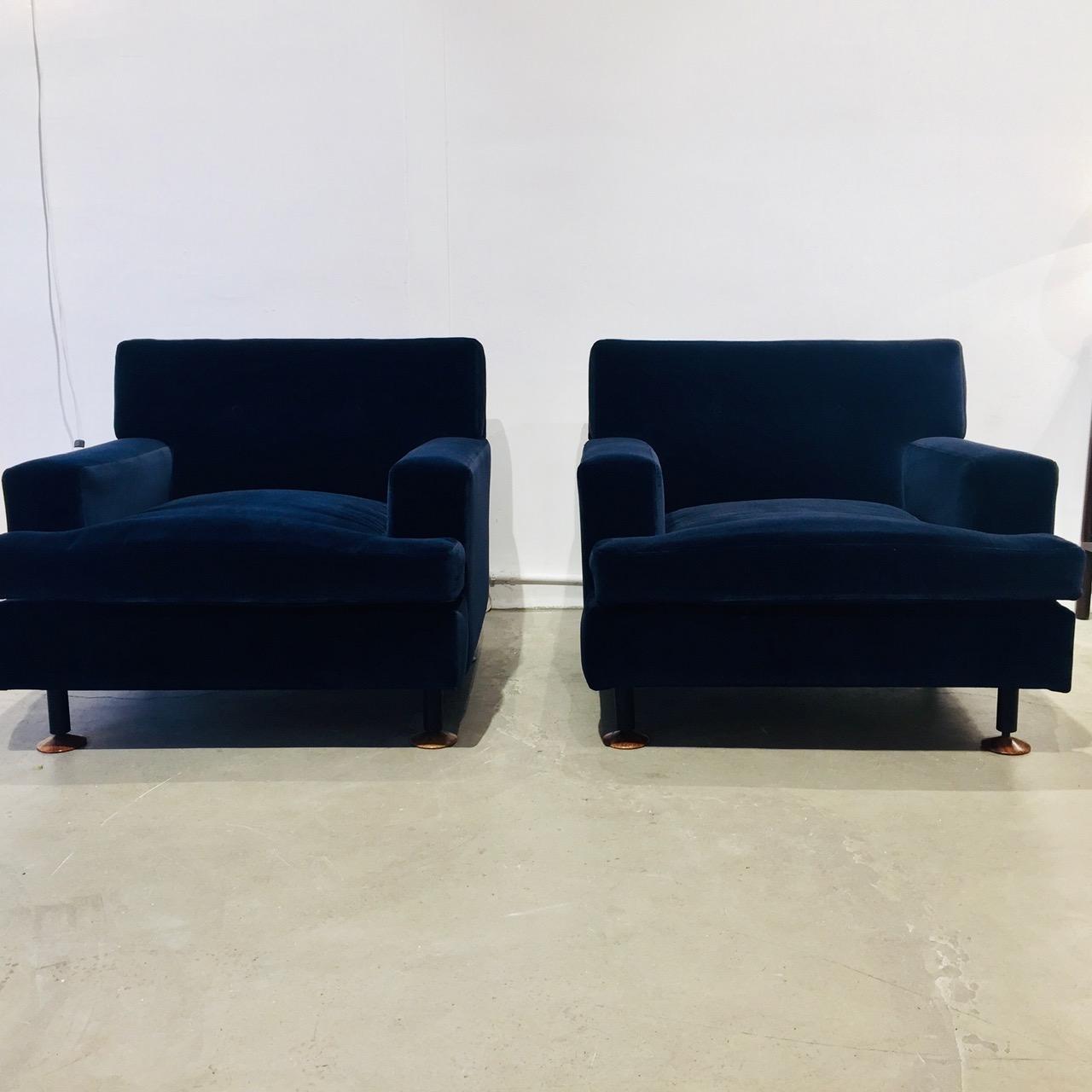 Paire de fauteuils , modèle Square, design Marco Zanuso