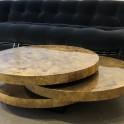 Table basse 3 plateaux en laque