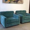 Paire de fauteuils italiens, années 70