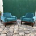 Paire de fauteuils Romantica, design Paolo Ranzani, ed. Elam