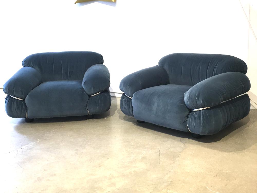 Paire de fauteuils Sesann